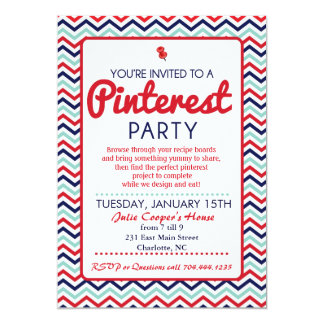 Pinterest Party Invitation