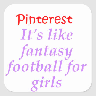 Pinterest Square Sticker