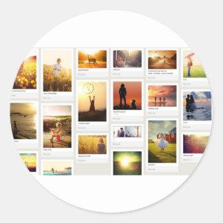 Pinterest Themed Classic Round Sticker