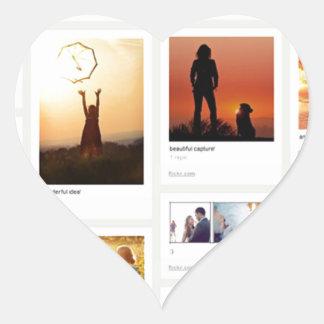Pinterest Themed Heart Sticker