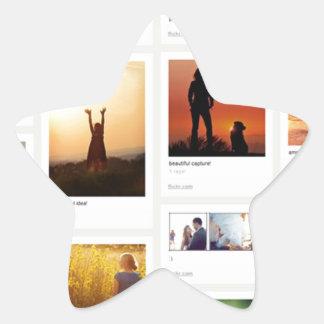 Pinterest Themed Star Sticker