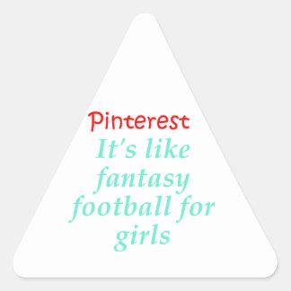 Pinterest Triangle Sticker