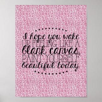 Píntese poster el | rosado hermoso del leopardo