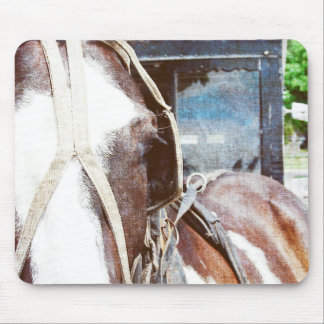 Pinto Amish Buggy Horse Mouse Pad