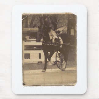 Pinto Amish Horse Faux Vintage Mouse Pad