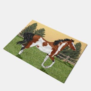 Pinto Arabian Horse Doormat