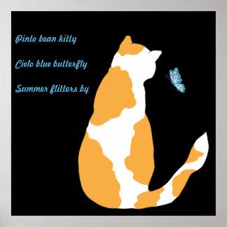 Pinto Bean Kitty Poster