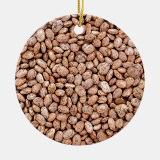 Pinto beans ceramic ornament