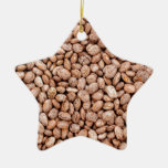 Pinto beans ceramic star decoration
