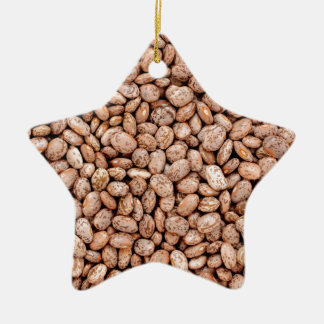 Pinto beans Double-Sided star ceramic christmas ornament