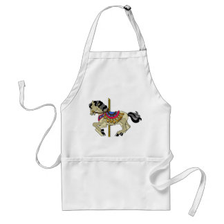 Pinto Carousel Horse Adult Apron