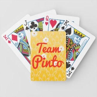 Pinto del equipo baraja de cartas
