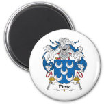 Pinto Family Crest Refrigerator Magnets