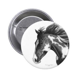Pinto Horse Button