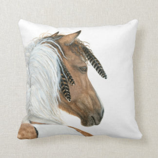 Pinto Horse by BiHrLe Pillow