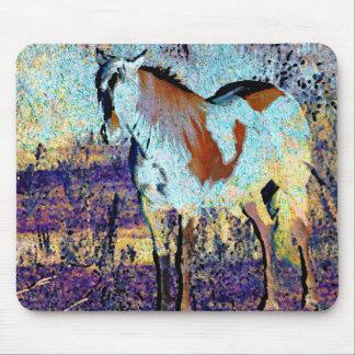 Pinto Horse Digital Art Mouse Pad