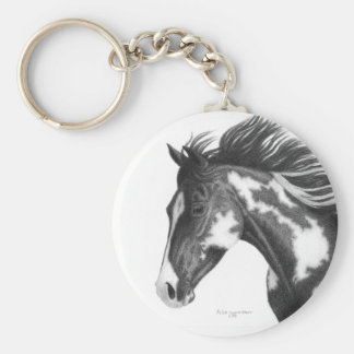 Pinto Horse Keychain