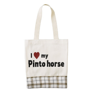 Pinto horse zazzle HEART tote bag