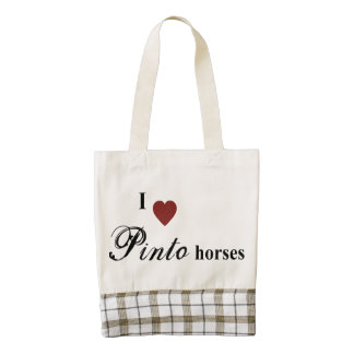 Pinto horses zazzle HEART tote bag