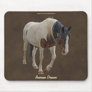 Pinto Painted Horse on faux-Leather BG Mousepad