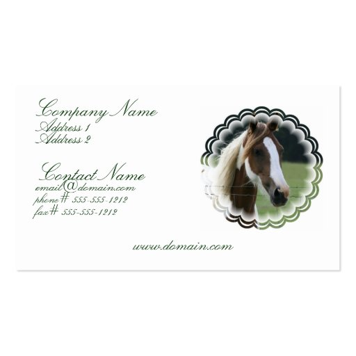 Pinto Pony Business Card