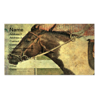 Pinto Pony in Games Class Business Card Templates