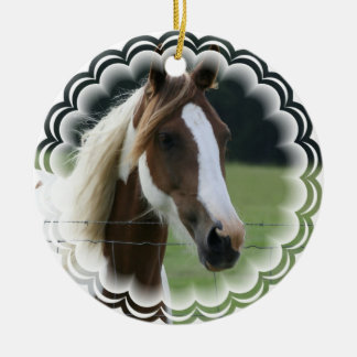 Pinto Pony Ornament
