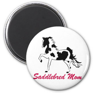 Pinto Saddlebred Mom 2 Inch Round Magnet