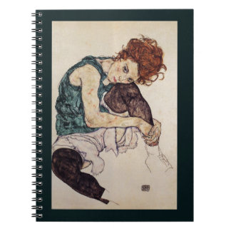 Pintor austríaco asentado 1917 de Egon Schiele de  Libreta