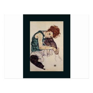 Pintor austríaco asentado 1917 de Egon Schiele de  Postales
