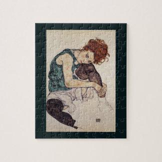 Pintor austríaco asentado 1917 de Egon Schiele de  Puzzles