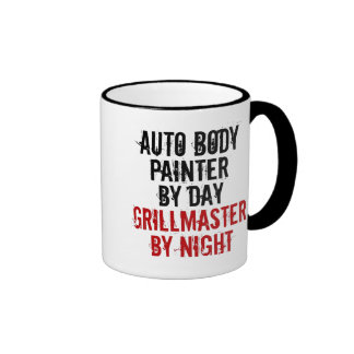 Pintor auto del cuerpo de Grillmaster Taza De Dos Colores