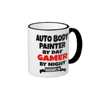 Pintor auto del cuerpo del videojugador taza de dos colores
