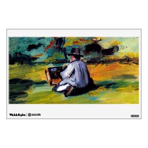 Pintor de Cezanne del artista en el arte del impre