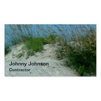 Pintor de encargo del contratista de la duna de ar plantilla de tarjeta de visita