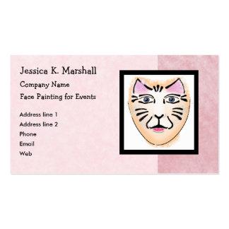 Pintor de la cara artista de maquillaje de la fant tarjeta de visita