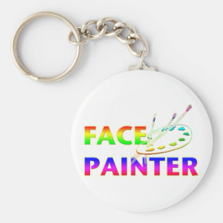 Pintor de la cara llavero redondo tipo pin
