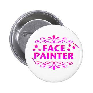 Pintor de la cara pin redondo de 2 pulgadas
