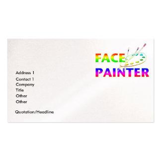 Pintor de la cara tarjetas de visita