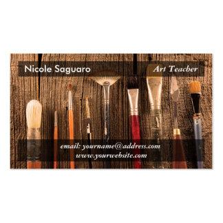 Pintor del artista tarjetas de visita