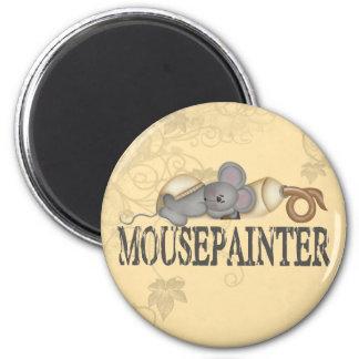 Pintor del ratón imán redondo 5 cm