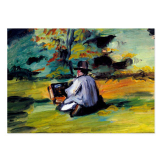 Pintor en el arte impresionista Paul Cezanne del Tarjetas De Visita Grandes