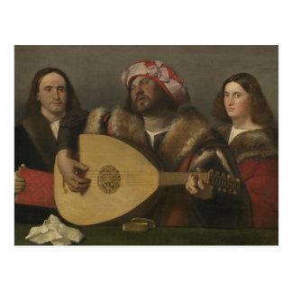Pintor Giovanni Busi Cariani, nacido en Venecia Postcard