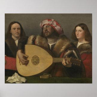 Pintor Giovanni Busi Cariani, nacido en Venecia Poster