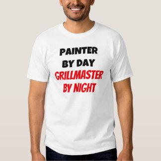 Pintor por el día Grillmaster por noche Remeras