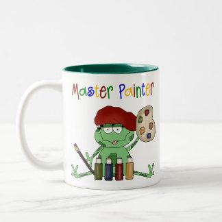 Pintor principal de la rana tazas