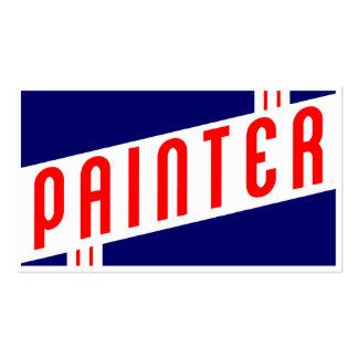 pintor retro tarjetas personales