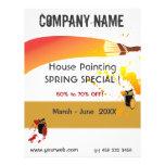 Pintor y mantenimiento de la pintura de casa flyer a todo color