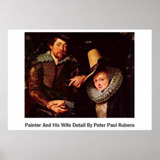 Pintor y su detalle de la esposa de Peter Paul Rub Impresiones