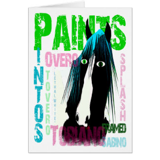 Pintos - Paint Horse gifts & greetings Card
